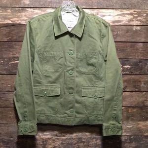 ⭐️L.L. Bean Button Down Jacket Petite Medium